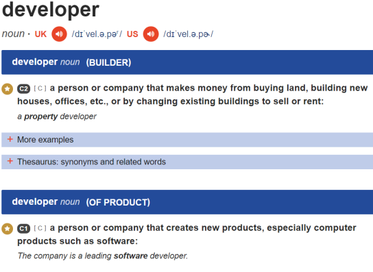 Developer_Definition